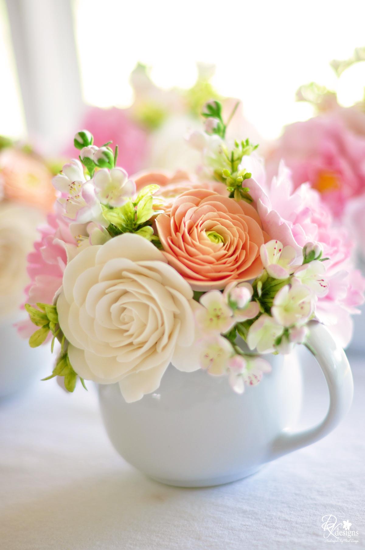 Floral décor for your tea party