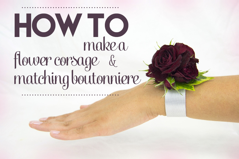 How To Make A Corsage And Matching Boutonniere