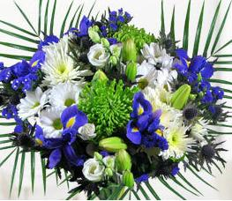 Storing a flower bouquet in the winter