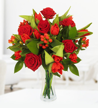 Top red flowers
