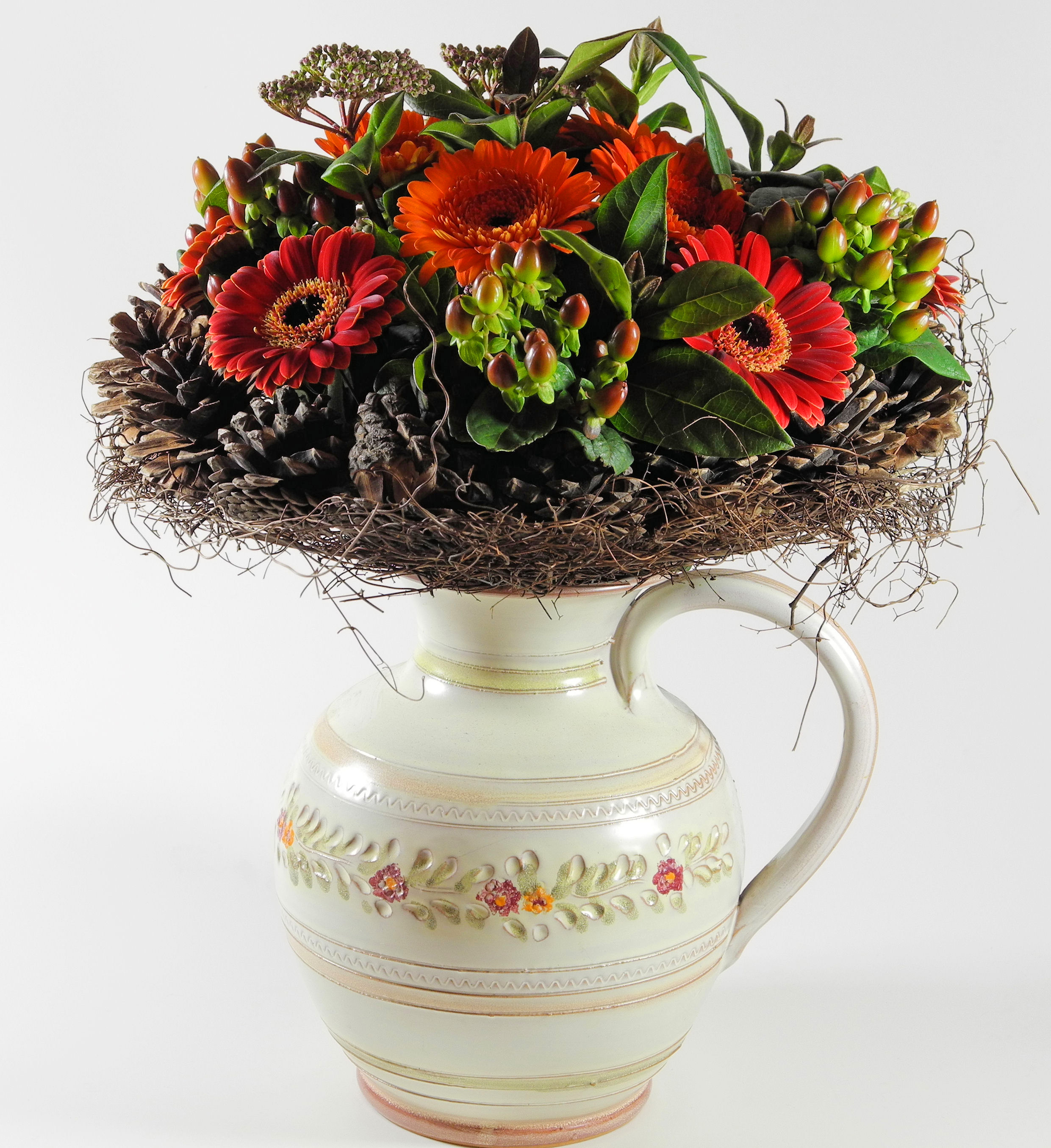 Christmas Vase Decorating Ideas Flower Press