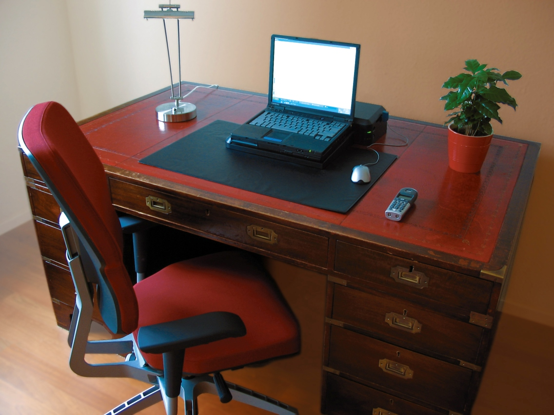 Flower arrangements for his office