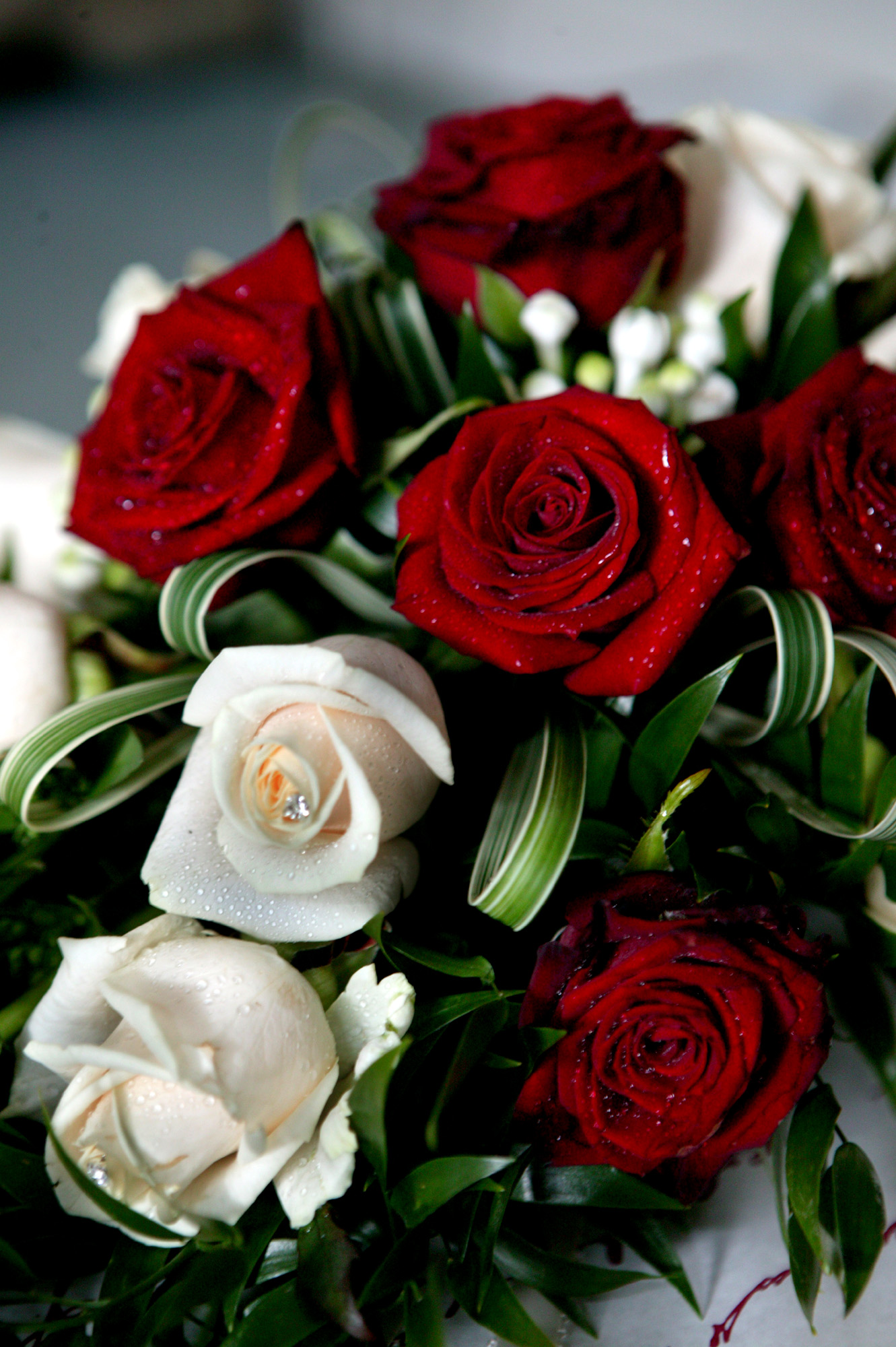 Red blooms for your wedding