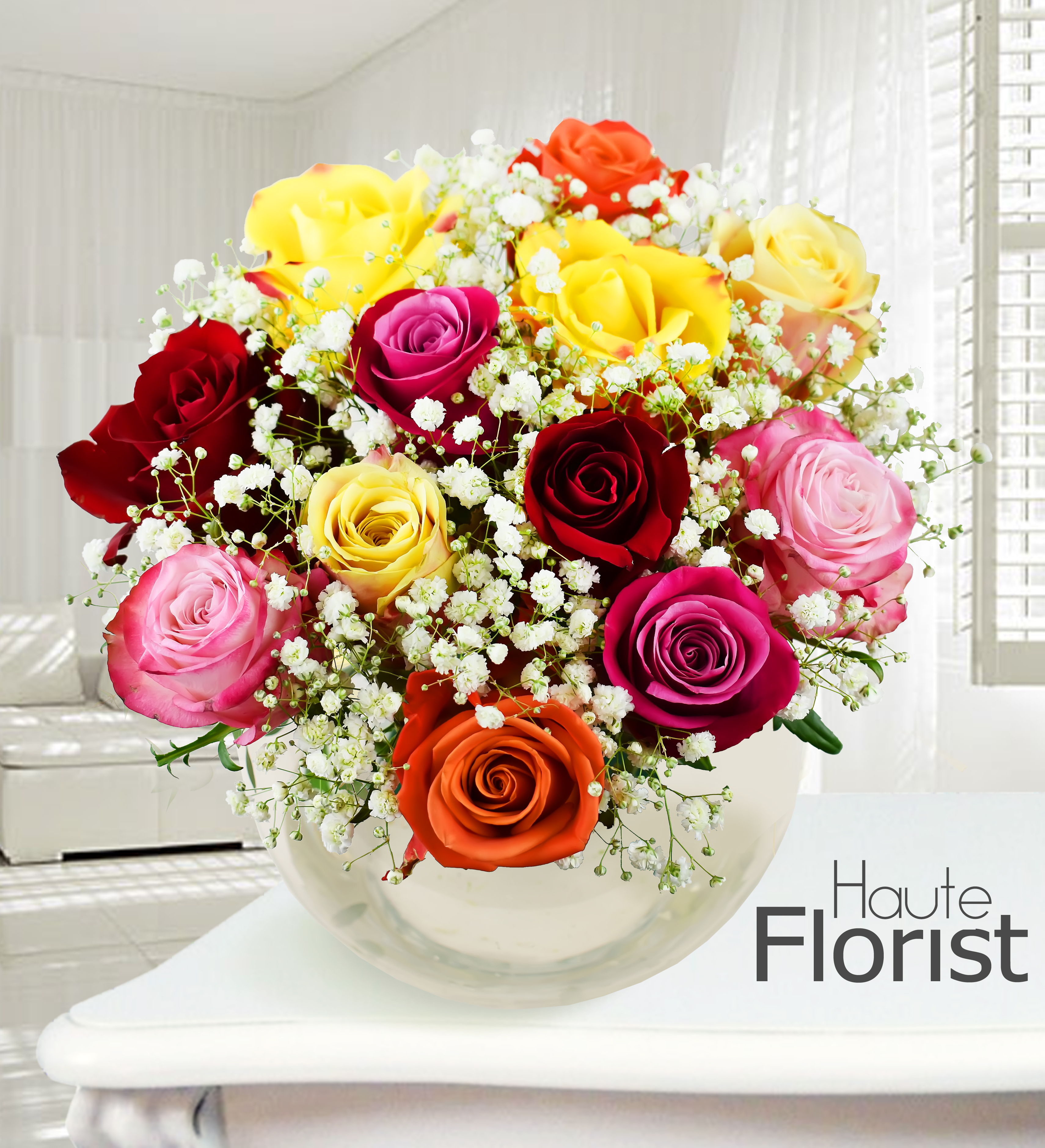 Engagement flowers for the happy couple