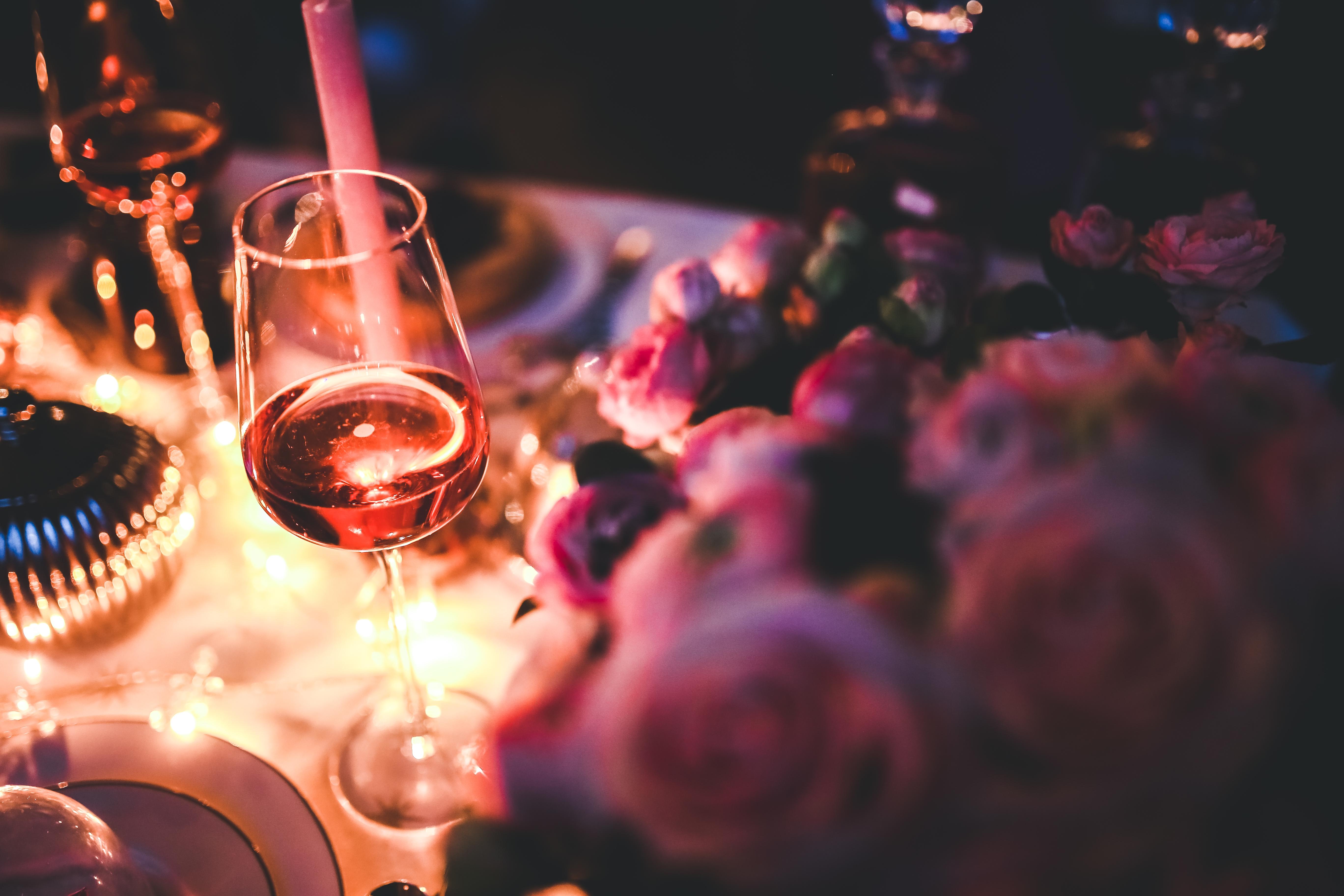 Fun rose and rosé arrangement