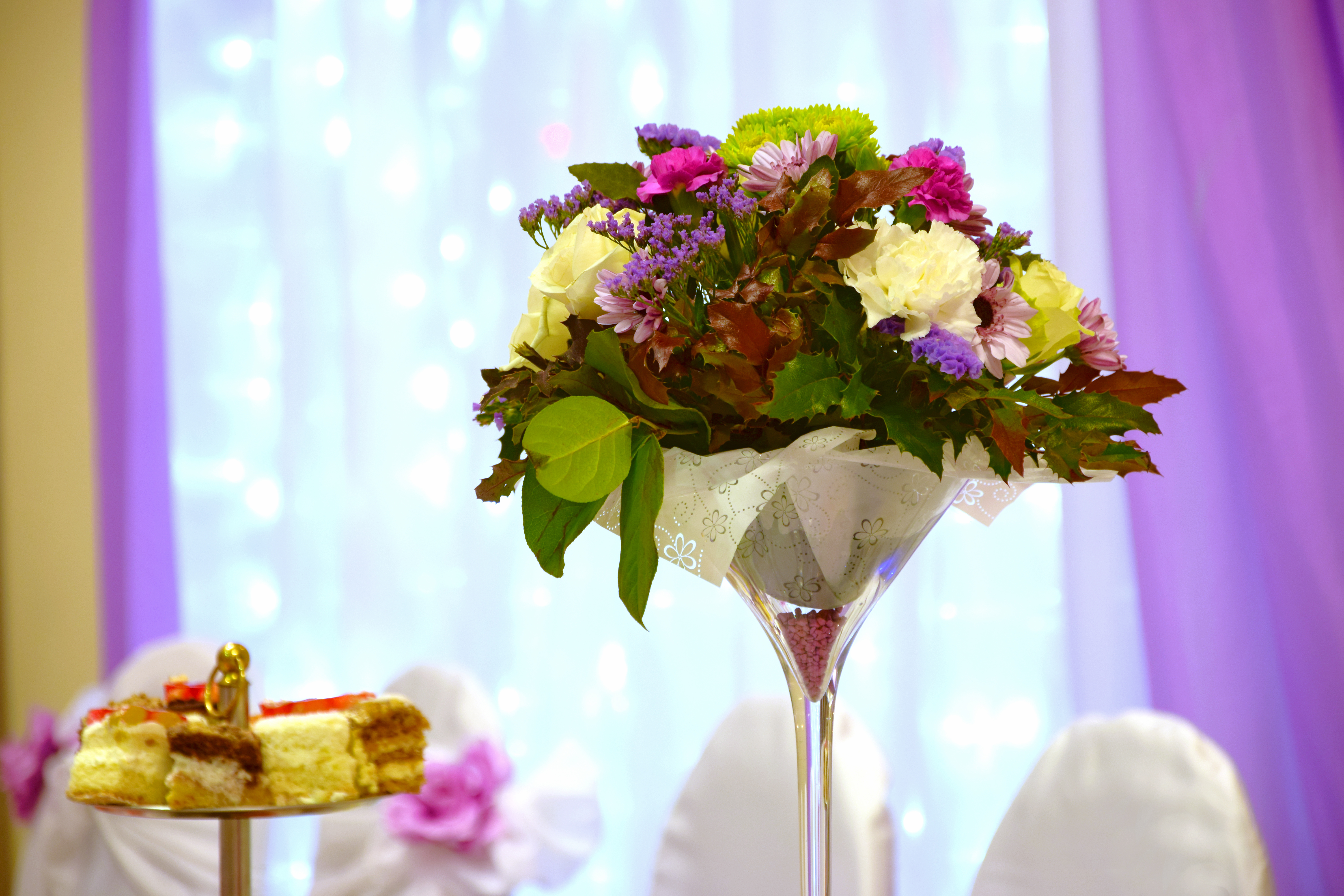 Flowers for the mother of the bride