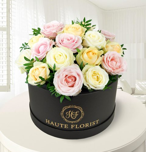 Hat box flower designs