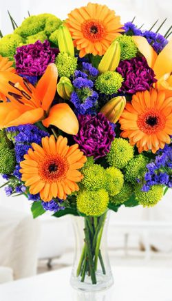 Beat the blues with flowers